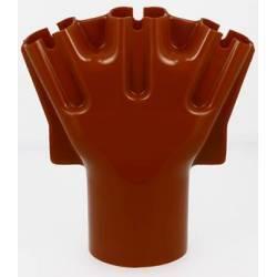 Main 3 doigts nue - diamètre 80 mm - rouge