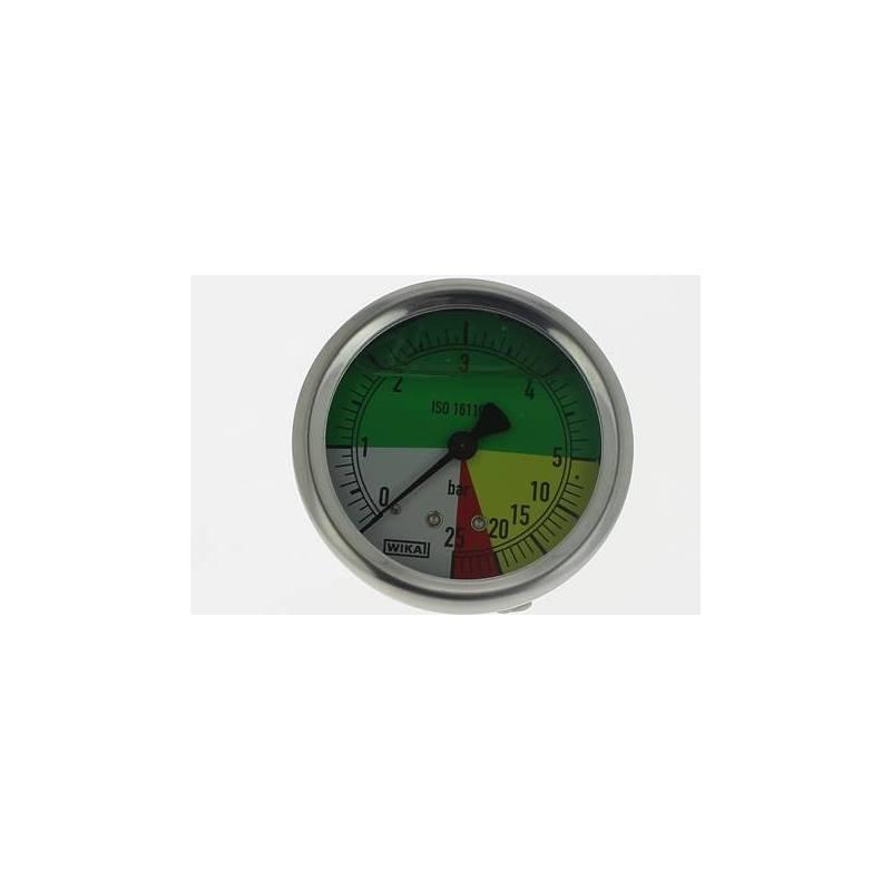 """manomètre à echelle dilatée 63 mm - 1/4""""arriere - fixation axiale - 0-5-25 bar"""