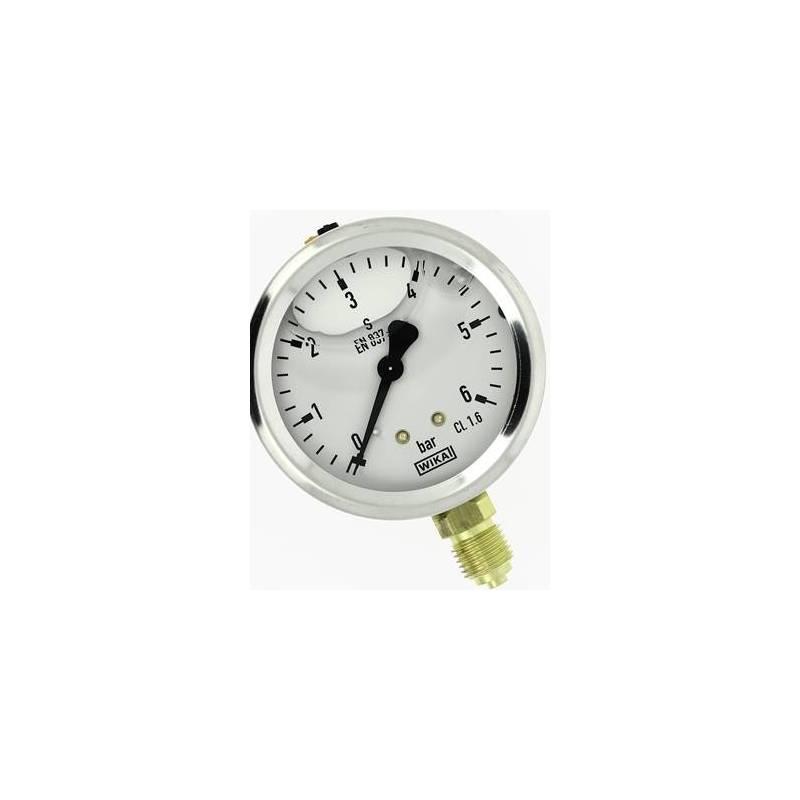 mano linéaire 63 mm 1/4 - fixation périphérique - 0-6 bar