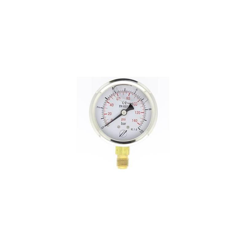mano linéaire 63 mm 1/4 - fixation périphérique - 0-10 bar
