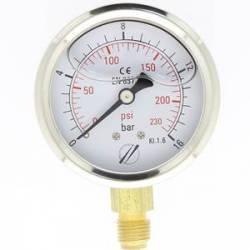 mano linéaire 63 mm 1/4 - fixation périphérique - 0-16 bar
