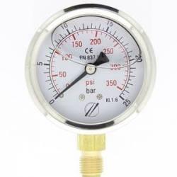 mano linéaire 63 mm 1/4 - fixation périphérique - 0-25 bar