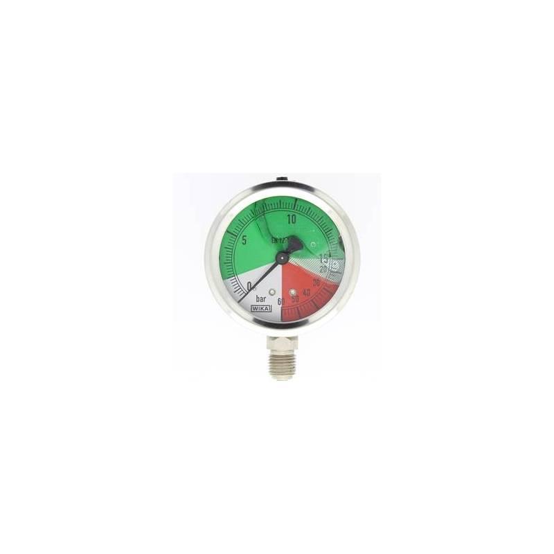 mano à échelle dilatée 63 mm 1/4 - fixation périphérique - 0-15/60 bar