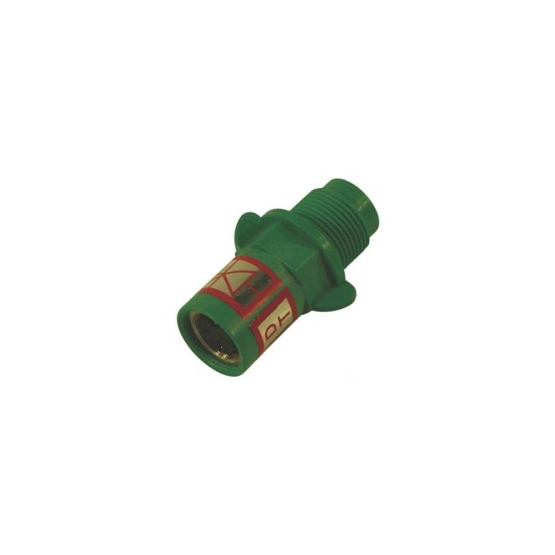 Capteur débimètre Polmac - onde sinusoîdale (vert) avec prise femelle 3 broches