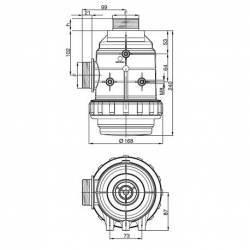 """Filtre aspiration Arag 316 - 1""""1/2 M - 32 mesh rouge"""