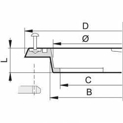 Bague de couvercle Arag 140 mm