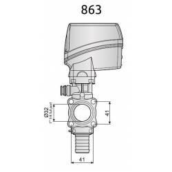 Vanne de réglage électrique Arag 60 l/min - retour 13 mm - 7 sec