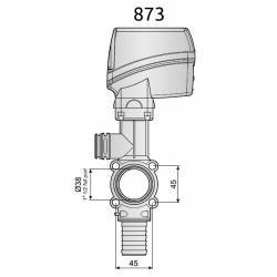 Vanne de régulation électrique Arag 240 l/min - retour 30 mm - 7 sec