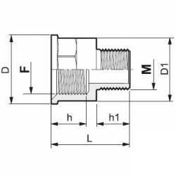 "Réduction Femelle/Mâle 3/4"" x 3/8"""