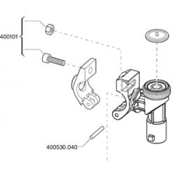 Porte buse arag : axe d articulation collier
