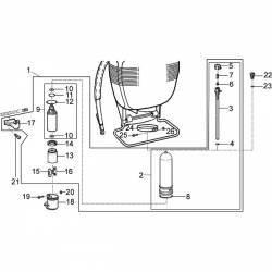 Bielle avec tétons de pompe à piston SOLO 425 - 435 - 473P