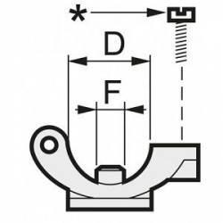 """Porte buse monojet à collier Ø 3/4"""" - trou 10 mm - écrou à visser"""