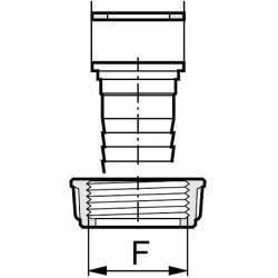 "Joint plat pour raccord 3/4"" Femelle (20/27) - 24.5 x 17 x 2.5"