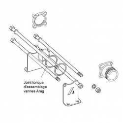 """Joint torique vanne Arag 463/863 et joint tubulure à écrou 2"""" - 39.34 x 2.62"""