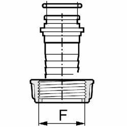 """Joint torique pour tubulure Arag à écrou 2""""1/2 - 56.74 x 3.53 mm"""