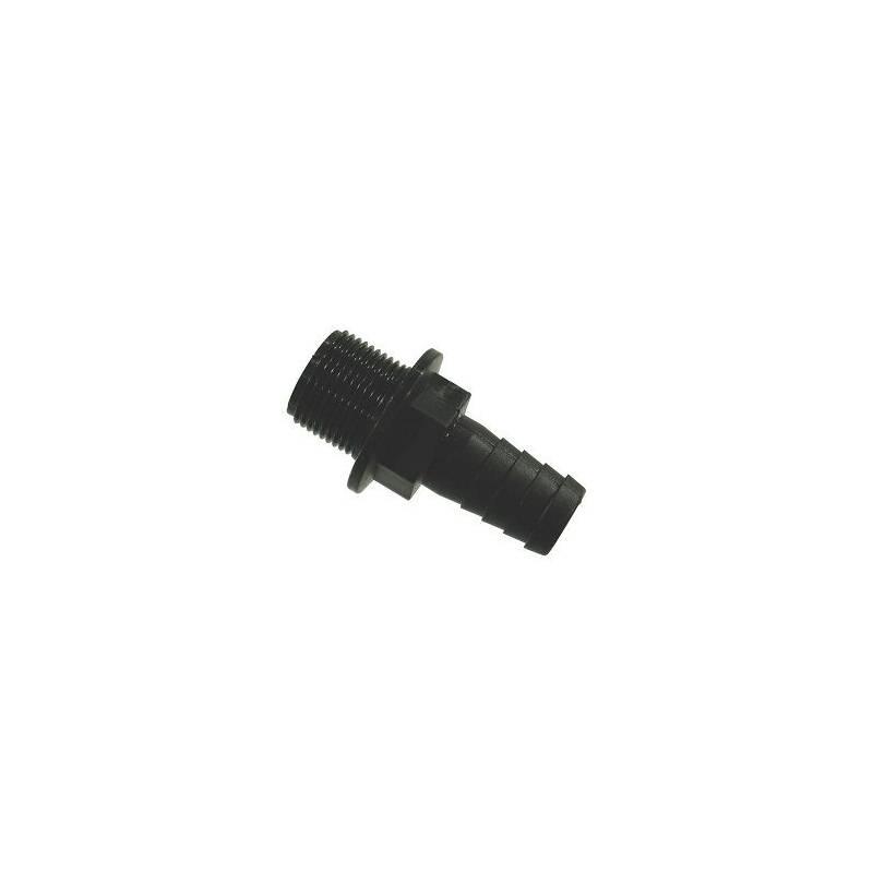 """Raccord droit - Filetage M 3/4"""" - Tubulure 13 mm"""