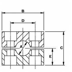 Collier de serrage de tube 18 mm