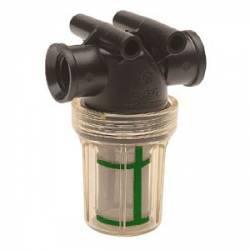 """Filtre de tronçon Arag 324-0T - 1/2"""" F - bol transparent 100 mesh vert"""