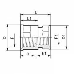 """Réduction F/F 2"""" x 1""""1/2 Arag"""