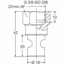Buse de brassage Lechler à induction d'air - orifice 2.2 mm