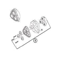 kit diaphragme avec support pompe Shurflo 8000