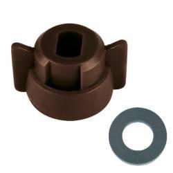 Ecrou baionnette (B.A.N.)- 8 mm- marron & Jts