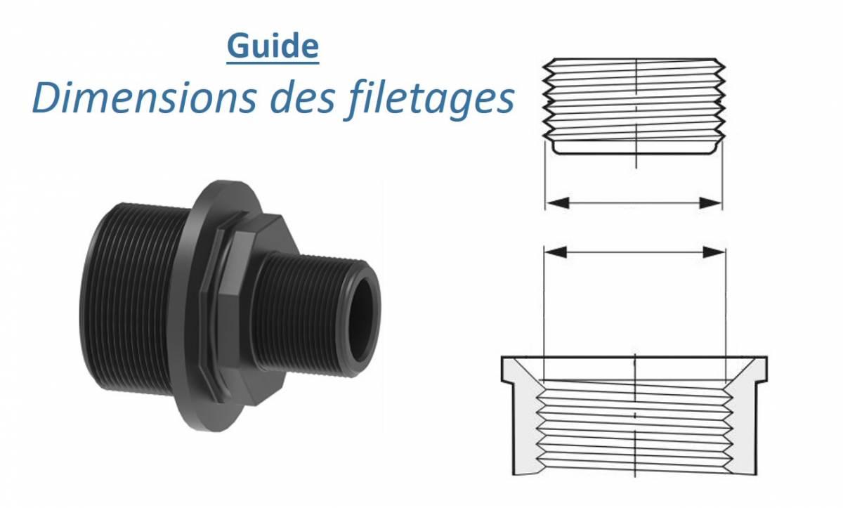 Guide : dimensions des filetages